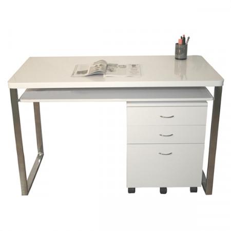 Bureau design blanc se meubler on line for Bureau qui se ferme