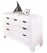 Commode 5 tiroirs blanc - BALTHASAR