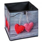 Boite de rangement décorée coeurs