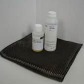 kit résine EPOXY de stratification 399 g + carbone