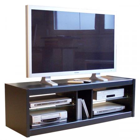 meuble tv noir 125 cm se meubler on line. Black Bedroom Furniture Sets. Home Design Ideas
