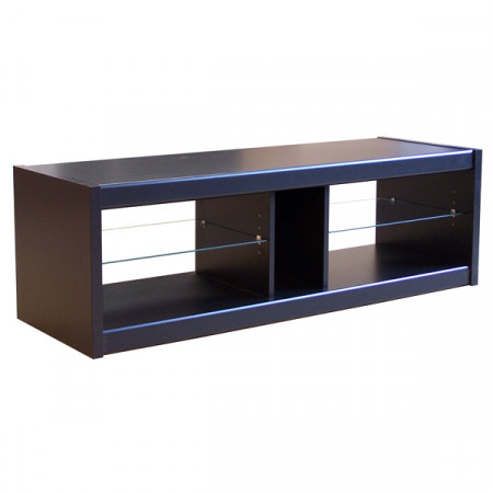 meuble tv noir 125 cm se meubler on line. Black Bedroom Furniture Sets. Home Design Ideas