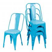 Lot 4 chaises vintage metal- AIX TRQ
