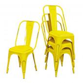 Lot 4 chaises vintage metal- AIX JNE