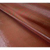 Tissu carbone polyester rouge 1m²