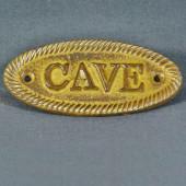 Plaque signalétique de porte - CAVE