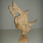 Sculpture racine de teck