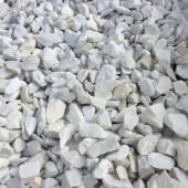 Cailloux de marbre blanc
