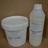 Résine acrylique de coulée  + poudre