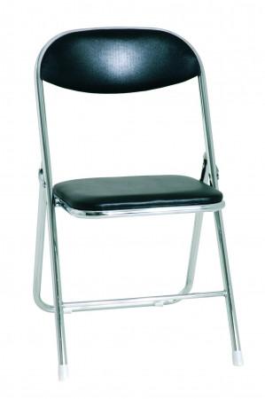 chaises pliante - Bobby noir/chrome