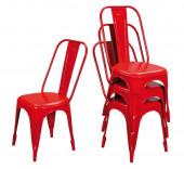 Lot 4 chaises vintage metal- AIX RGE
