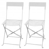 chaises de jardin blanc (X2) - Sun 20343