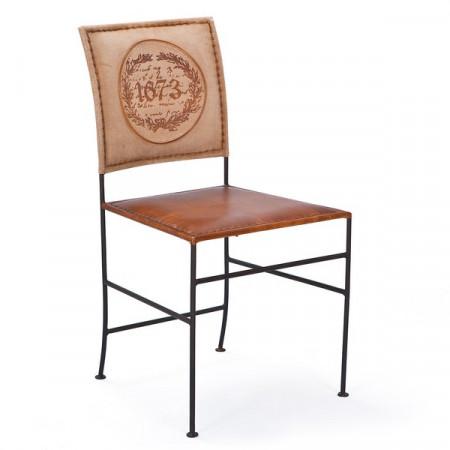 chaise cuir vintage x2 tull - Chaise Cuir Vintage